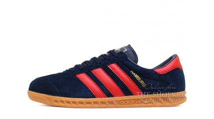Adidas Hamburg Deep Blue Red