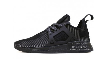 NMD КРОССОВКИ МУЖСКИЕ<br/> ADIDAS NMD XR1 TRIPLE BLACK STRIPS GRAY
