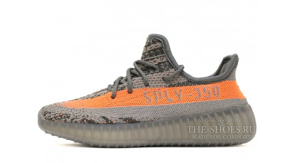 Yeezy Boost КРОССОВКИ МУЖСКИЕ<br/> ADIDAS YEEZY BOOST 350 V2 GREY SOLAR RED