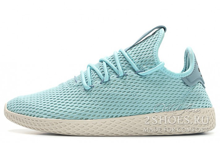 ADIDAS Tennis Hu Pharrell Williams Icey Blue Tactile голубые