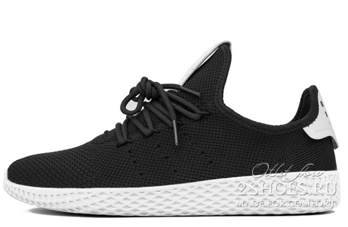 ADIDAS Tennis Hu Pharrell Williams Black White черные