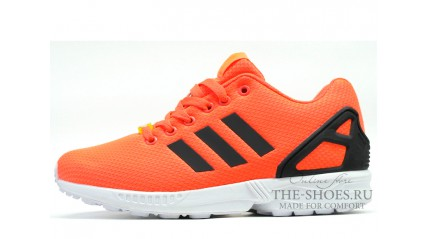 ZX КРОССОВКИ МУЖСКИЕ<br/> ADIDAS ZX FLUX ORANGE BLACK WHITE