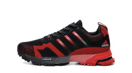 Marathon КРОССОВКИ МУЖСКИЕ<br/> ADIDAS FLYKNIT MARATHON BLACK RED