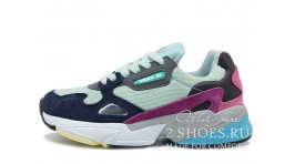 Adidas Falcon W80 Clear Mint Collegiate Navy мятные