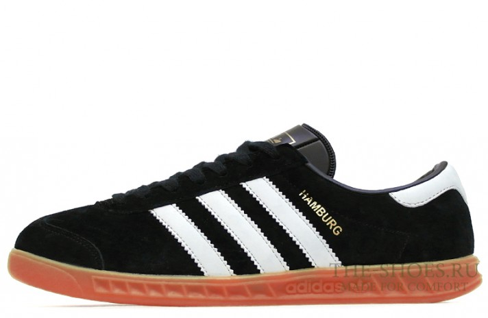 Adidas Hamburg Black White черные