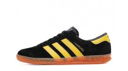 Adidas Hamburg Black Yellow Glassy