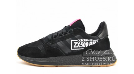Adidas ZX 500 RM Black Core Flash Red