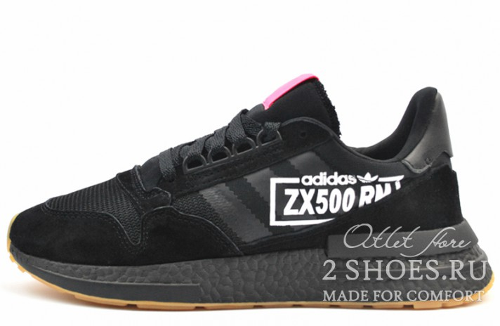 Adidas ZX 500 RM Black Core Flash Red черные