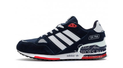 Adidas ZX 750 Dark Blue Red White