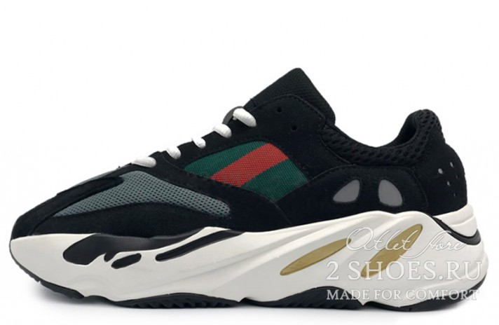 Adidas Yeezy 700 Wave Runner Gucci Black черные