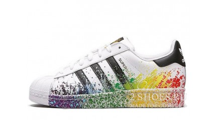 Adidas SuperStar White Pride Pack Paint