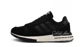 Кроссовки Мужские Adidas ZX 500 RM Black Core Footwear White