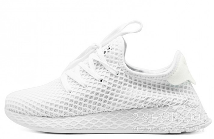 ADIDAS Deerupt Runner Triple White белые