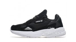 Adidas Falcon W80 Black White черные