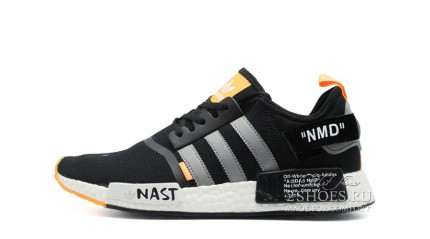 NMD КРОССОВКИ МУЖСКИЕ<br/> ADIDAS NMD R1 OFF WHITE BLACK ORANGE