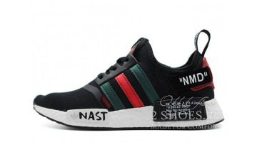 Кроссовки Мужские ADIDAS NMD R1 Off White Black Green Red