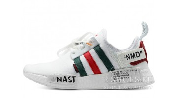 Кроссовки Мужские ADIDAS NMD R1 Off White Green Red