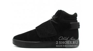 Кроссовки Мужские Adidas Tubular Invader Strap Triple Black