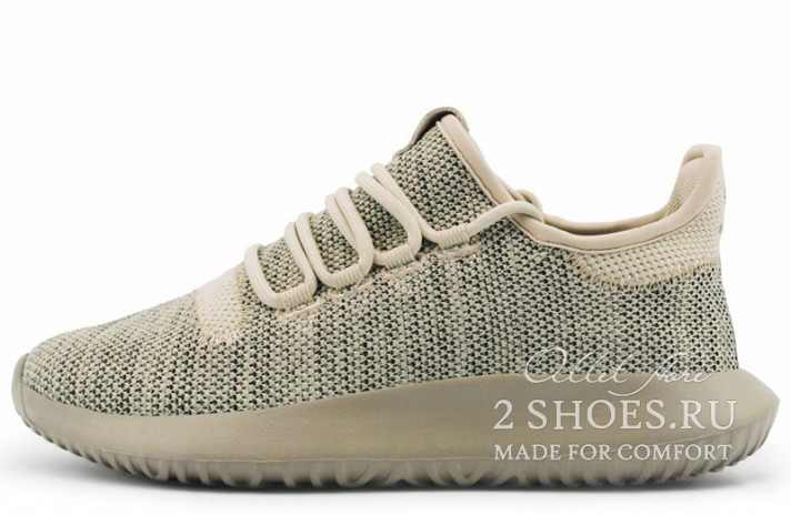 Adidas Tubular Shadow Knit Clear Brown бежевые, фото 1