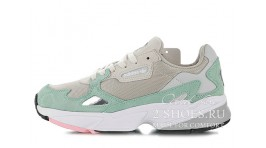 Adidas Falcon W80 Easy Green Grey One серые мятные