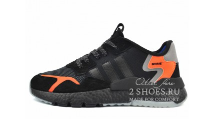 Adidas Nite Jogger core black carbon orange
