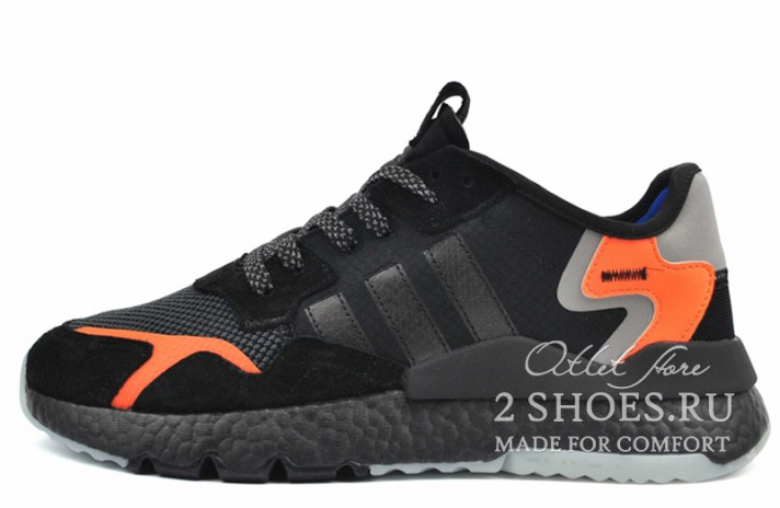 Adidas Nite Jogger core black carbon orange черные