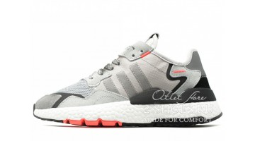 Кроссовки женские Adidas Nite Jogger Grey Two Solar Orange