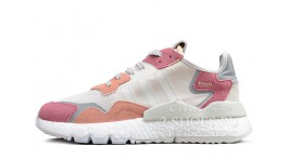 Adidas Nite Jogger Raw White Trace Pink белые розовые