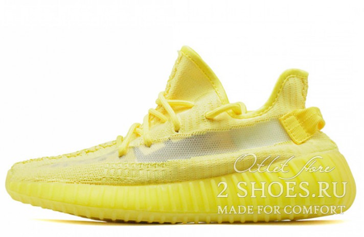 Adidas Yeezy Boost 350 V2 Hyper Yellow желтые, фото 1