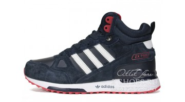 Кроссовки мужские Adidas ZX 750 Mid Winter Blue White Red