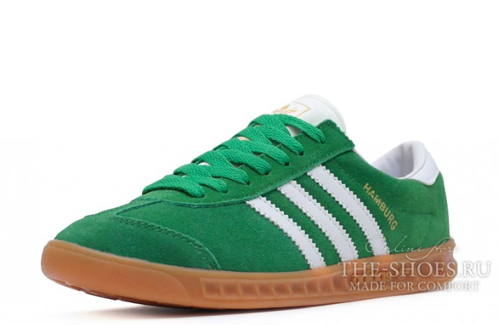 Adidas Hamburg Green White зеленые, фото 2