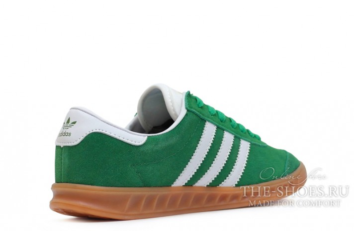 Adidas Hamburg Green White зеленые, фото 3