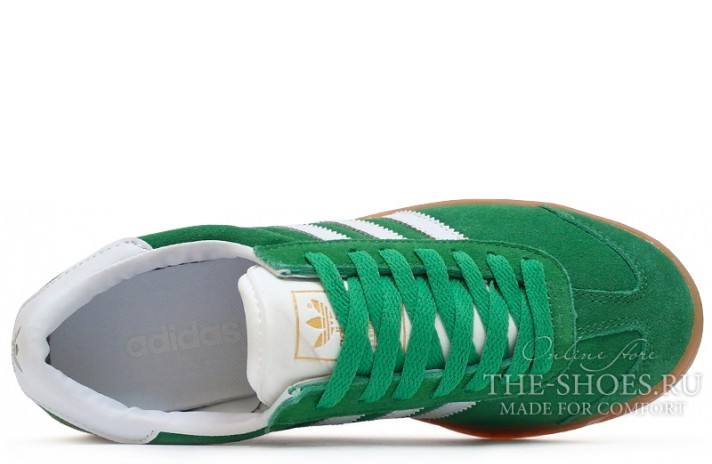 Adidas Hamburg Green White зеленые, фото 4