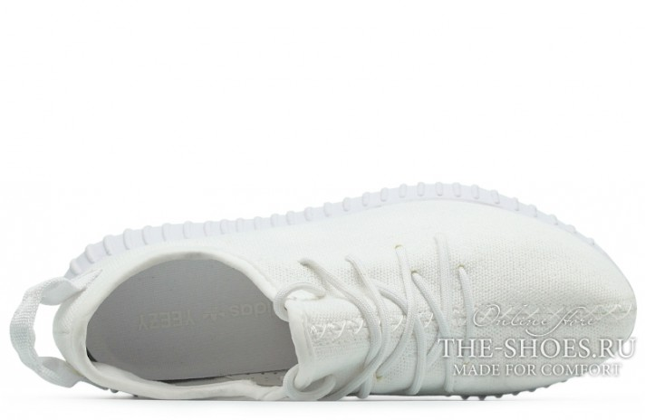 Adidas Yeezy Boost 350 Pure White белые, фото 4
