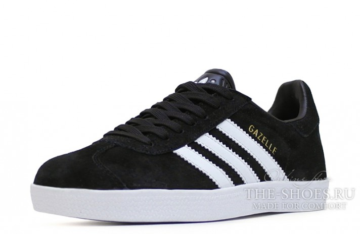 Adidas Gazelle Black White черные, фото 2