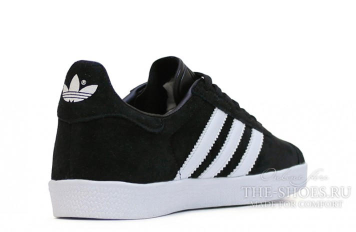 Adidas Gazelle Black White черные, фото 3