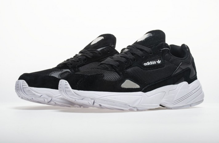 Adidas Falcon W80 Black White черные, фото 2