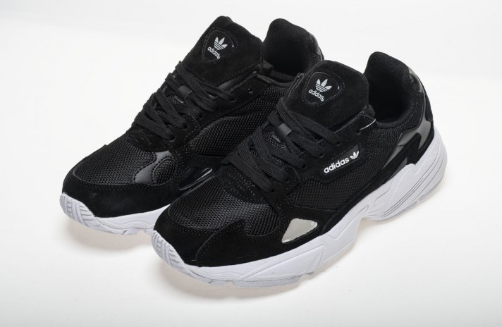 Adidas Falcon W80 Black White черные, фото 3