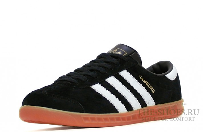Adidas Hamburg Black White черные, фото 2