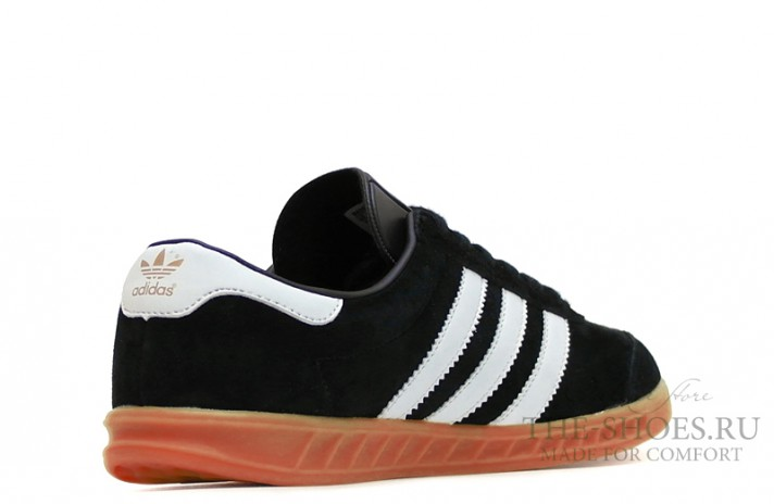 Adidas Hamburg Black White черные, фото 3