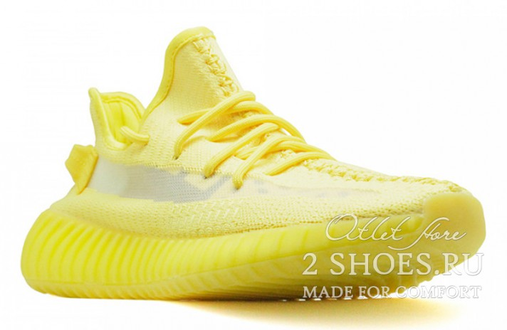Adidas Yeezy Boost 350 V2 Hyper Yellow желтые, фото 2