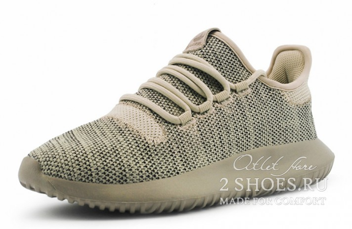 Adidas Tubular Shadow Knit Clear Brown бежевые, фото 2