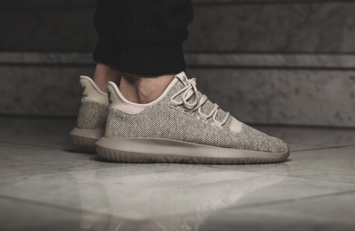 Adidas Tubular Shadow Knit Clear Brown бежевые, фото 6