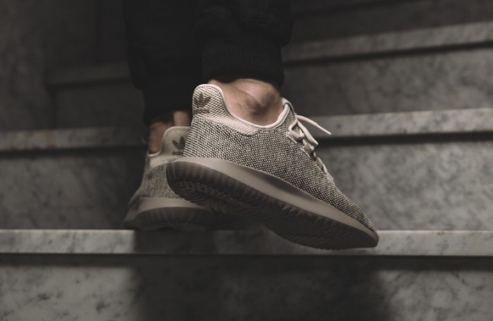 Adidas Tubular Shadow Knit Clear Brown бежевые, фото 7