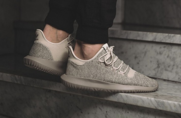 Adidas Tubular Shadow Knit Clear Brown бежевые, фото 5