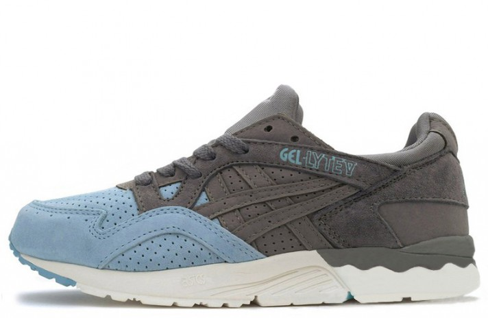 Кроссовки Asics Gel LYTE 5 Suede Toe Grey Light Blue