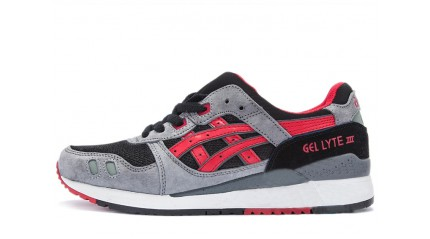 Gel Lyte 3 КРОССОВКИ МУЖСКИЕ<br/> ASICS GEL LYTE 3 GRAY BLACK RED