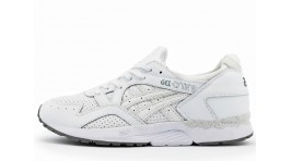 Asics Gel Lyte 5 White perforation Leather белые кожаные