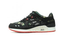 Asics Gel Lyte 3 Camo Green Black White черные камуфляжные