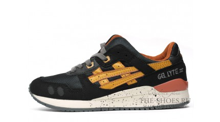Asics Gel Lyte 3 Black Tan Yellow White